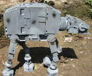 I guess AT-ATs are made from recycled computer parts, who knew? Well maybe it's not a real AT-AT, I mean its a lot smaller and non-functional, but none the less,