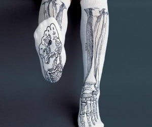 Anatomically Correct Bone Socks – Great for medical or massage students!