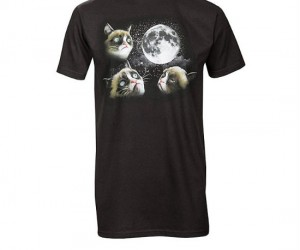 Get your grumpy on with the Grumpy Cat 3 moon t-shirt