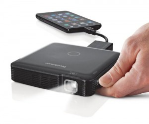 Take a portable projector anywhere you go with the HDMI pocket projecot.