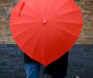 Heart Shaped Umbrella – Romantic and practical.