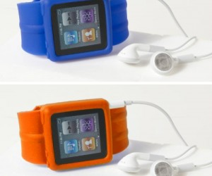 iPod wrist watch strap – Be the coolest kid on the block with your futuristic looking iPod watch.