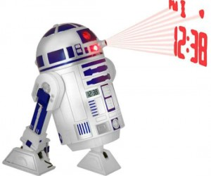 R2D2 Projection Clock – You will feel like there is a real miniature R2D2 unit in your bedroom when you wake up to this little guy.