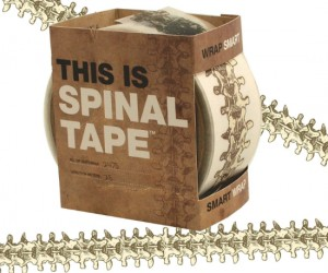 This is Spinal Tape – Give your package a back bone before you ship it off, it may need it to survive the abusive mail system.