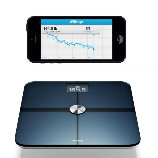 Iphone bathroom scale