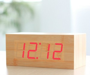Wood Grain LED Clock – You might just think this was a chunk of wood sitting on the shelf until you realize that the time is lit up on the