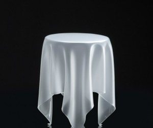 At first glance your guests will think you have a cloth draped over an invisible table.