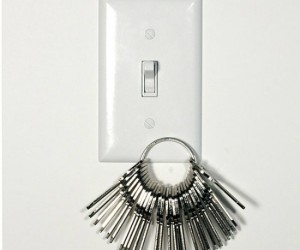 You know, so you have a place to hang your keys and always know where they are.