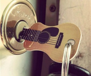 Guitar House Key – If the guitar has been the key to your heart why not make it the key to your house as well.