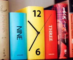 A clock that will look amazing on your bookshelf!