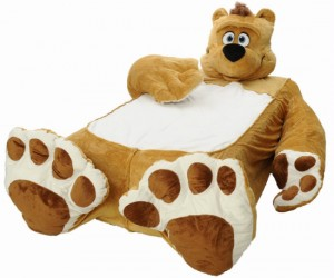 "Nothing helps you sleep better than snuggling up next to a teddy bear, just imagine how good you will sleep when your entire bed is the bear! ""In Soviet Russia,"