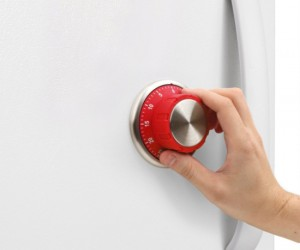 Stick this magnetic timer on your fridge to make it look like it must hold some gold plated chicken or something.