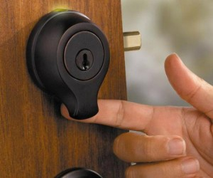 Lost your keys? No problem, all you need is your own fingerprint to get into your house!