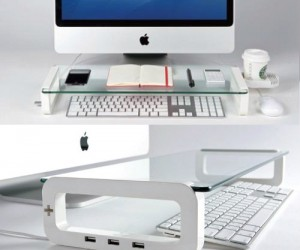 Perfect for organizing all the clutter around your desk even comes with a drink holder!