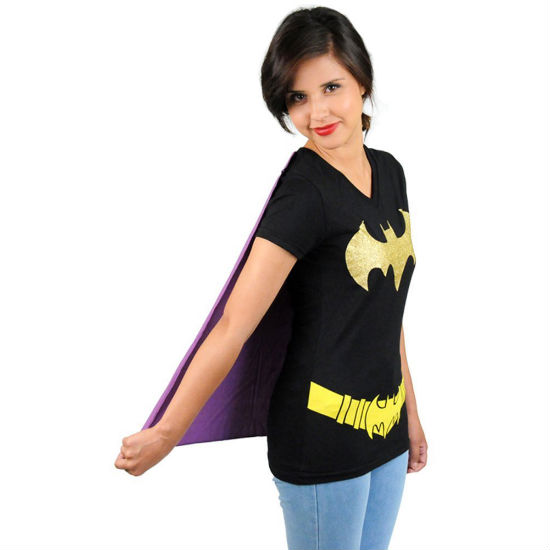 bat girl caped tee