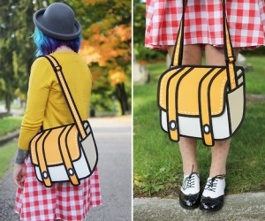 WIth this one of kind 2D purse you'll look like you jumped straight out of a cartoon.