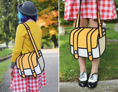 2d cartoon purse