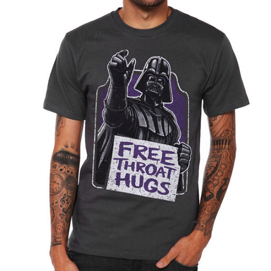 free throat hugs shirt