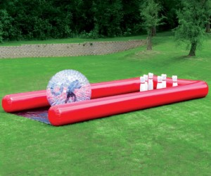 Human Bowling Ball – If you've always wanted to live out your dream of being a human bowling ball here's your big chance!