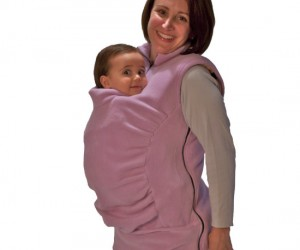 Baby Carrying Sweater – Modeled after the kangaroo this sweater keeps your hands free while holding your baby nice and snug.