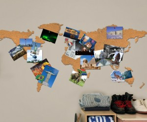 Cork Board Map – Now you can pinpoint exactly where you have been!