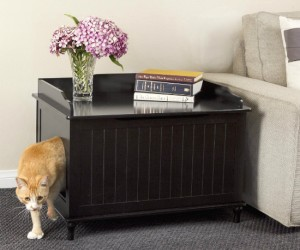 Designer Litter Box – Finally a simple solution for that unsightly litter box.