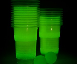 Glow in the dark beer pong – Making this extreme sport even extremier.