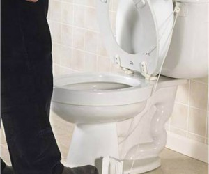 Toilet Seat Lifter – Stand on the pedal to lift the seat and it falls back down when you're done. Now you don't have to be nagged about remembering to