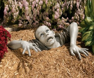 Zombie Garden Sculpture – So much cooler than the traditional garden gnome!
