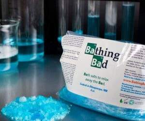 Bathing Bad Bath Salts – Inspired by the hit show Breaking Bad these bath salts will leave you feeling cool and refreshed.