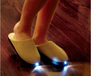 Flashlight Slippers – No more stubbing your toes when you have to get out of bed in the middle of the night.