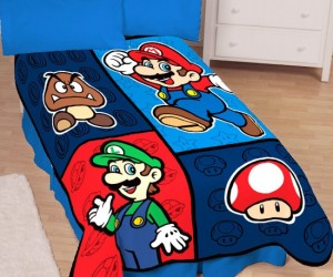Super Mario Throw – Nap under this throw and dream of a colorful world dominated by walking mushrooms and flying turtles!