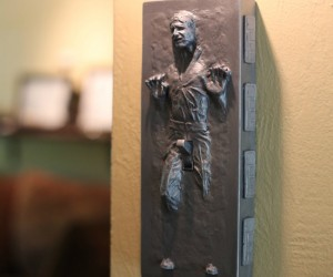 Han Solo In Carbonite Light Switch – So that's what they did with Han while he was frozen in Carbonite… at least he got some action.