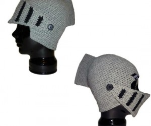 """Crochet Knight Helmet Beanie – How does the saying go? """"Every woman wants a knight in knitted armor."""""""