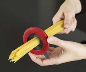 Adjustable Spaghetti Measure – Perfectly measures spaghetti noodles. Just don't stick a finger in there.
