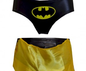 Caped Batman Panties – See how fast you have to run to make the cape fly, your boyfriend will enjoy the show.