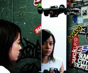 Skateboard Mirror – The slick design will evoke all the reckless abandon you had in your youth. Just don't try to skate on it.