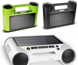 Plays your music as long as the sun shines! And if it outlasts your iPhone, you can charge it with this unit!