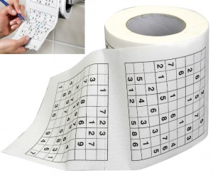 Sudoku toilet paper – for those times when you know you are going to be there a while.