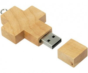 Wooden Cross USB – because Jesus saves.