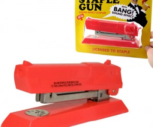 Staple Gun – Not quite as effective as an actual gun, but a lot more fun!