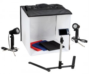 Photo Studio In A Box – Everything you need to take studio-like photographs of small items, perfect for the avid blogger!