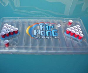 Inflatable Beer Pong Table – Tired of playing beer pong on boring old land? We've got you covered.