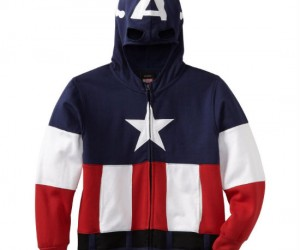 Captain America Hoodie – Are you a crime fighting patriot from the 50's? Well then this is the hoodie for you.