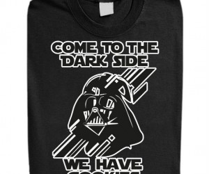 Star Wars Come To The Dark Side Tee – This shirt explains the very best reason to join the Dark Side be in fact they have cookies.