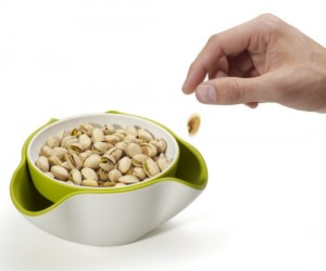 Double Dish – No need to make your table look gross with aseparatebowl full of slobbered on food discards now you can hide them right underneath the fresh snacks in