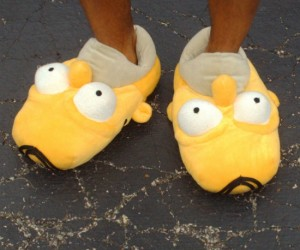Homer Slippers – Homer will eat anything, including human feet apparently.
