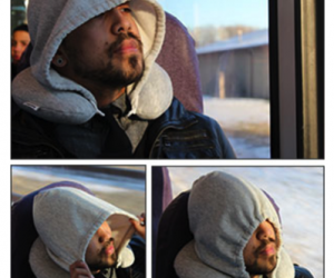 """Hoodie Travel Pillow – Everyone knows when your hood is up, it means """"Do not disturb."""""""