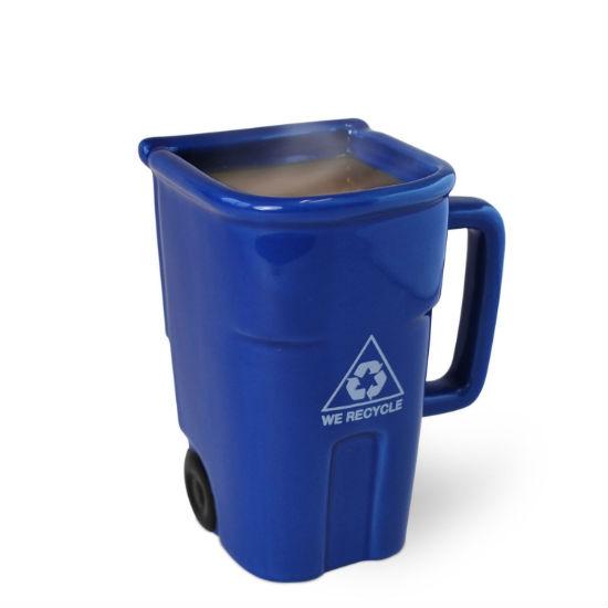 recycling bin coffee mug