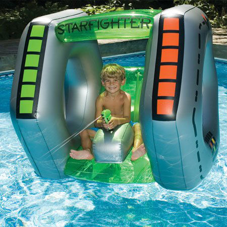 starfighter inflatable pool toy